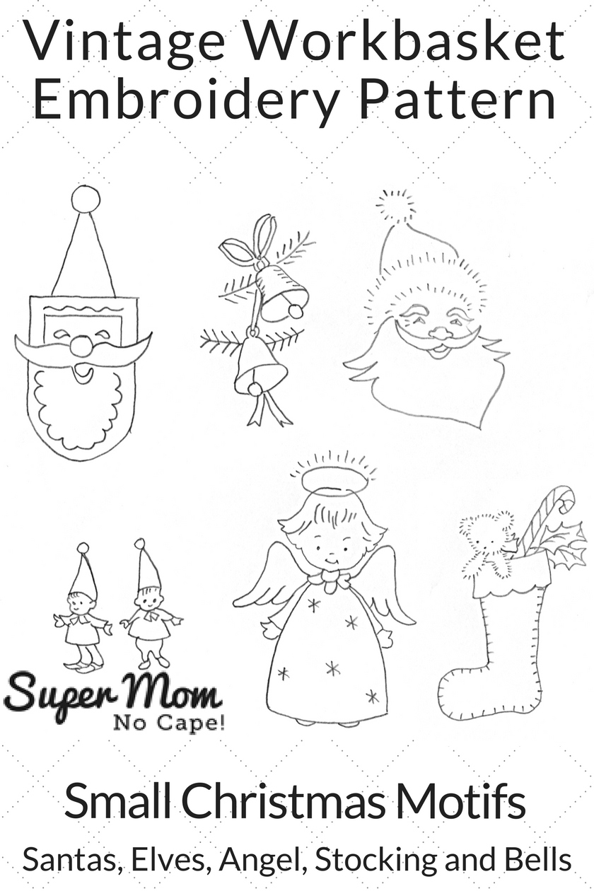 Christmas Embroidery Patterns Small Christmas Motif Embroidery Patterns Super Mom No Cape