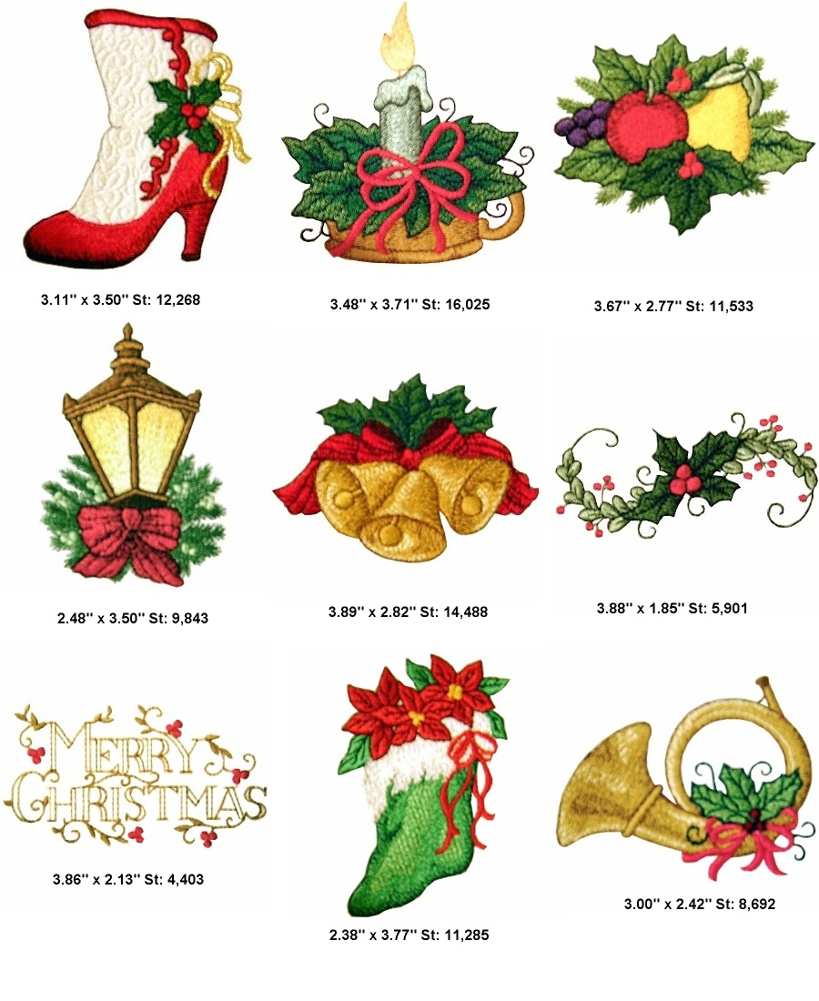 Christmas Embroidery Patterns Victorian Christmas Machine Embroidery Designs 1999 Golden