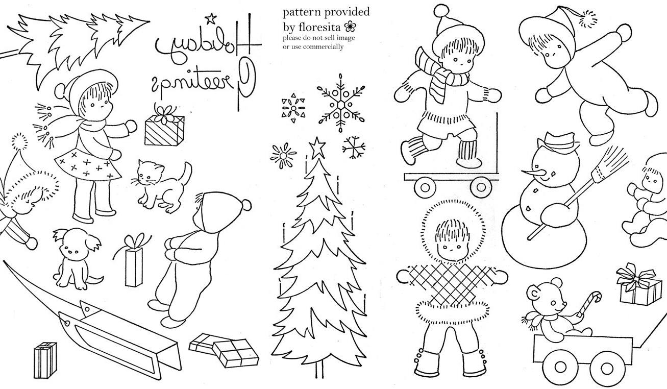 Christmas Embroidery Patterns Vintage Embroidery Transfer Patternsfree Vintage Embroidery Sampler