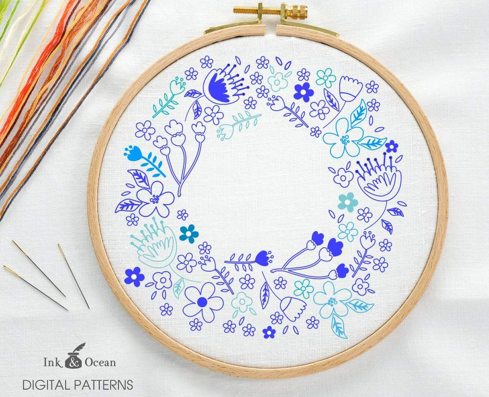 Christmas Hand Embroidery Patterns 10 Wreath Embroidery Patterns For Any Time Of Year