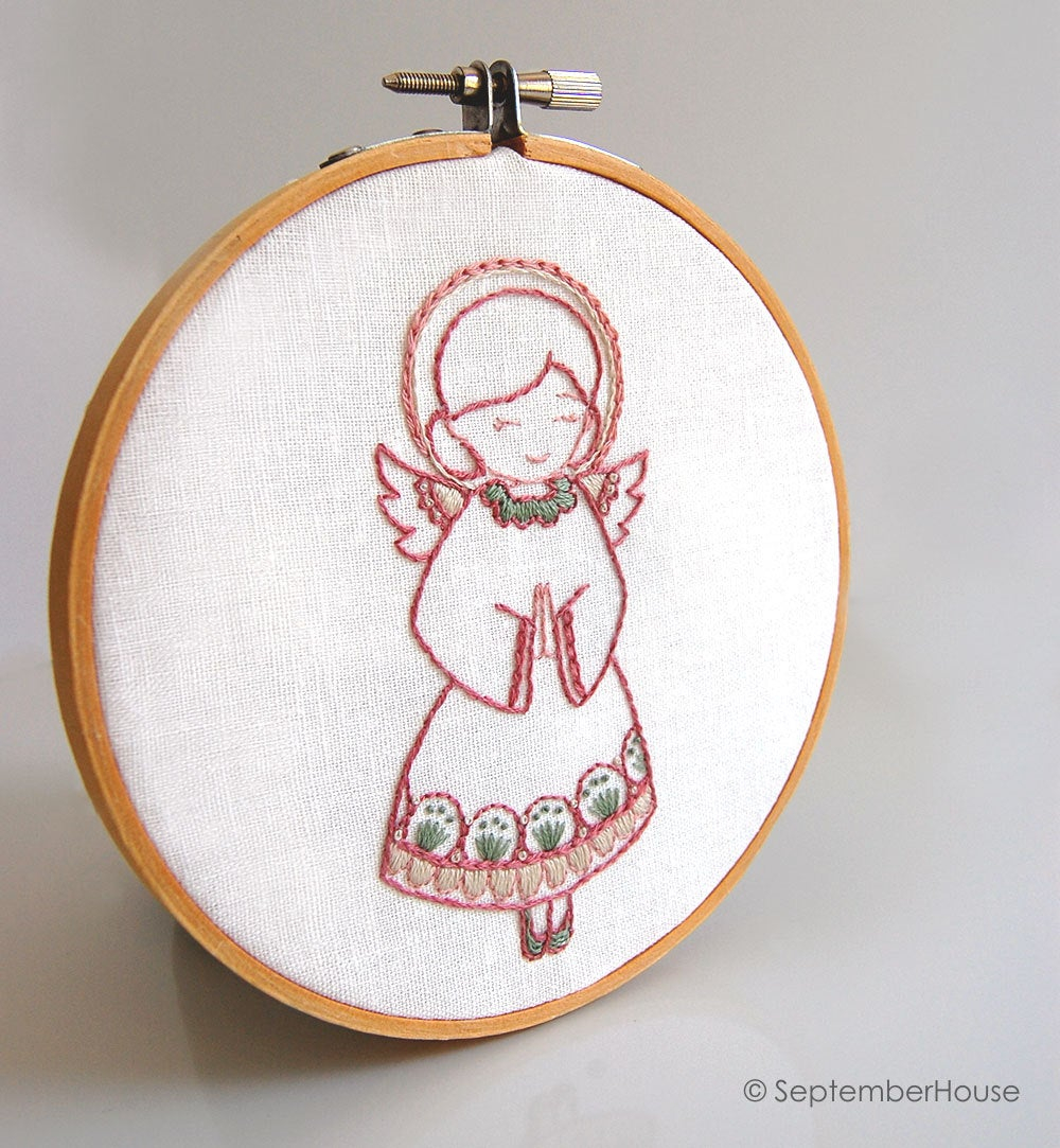 Christmas Hand Embroidery Patterns Hand Embroidery Holiday Pattern Collection Christmas Angel Embroidery Patterns From Septemberhouse