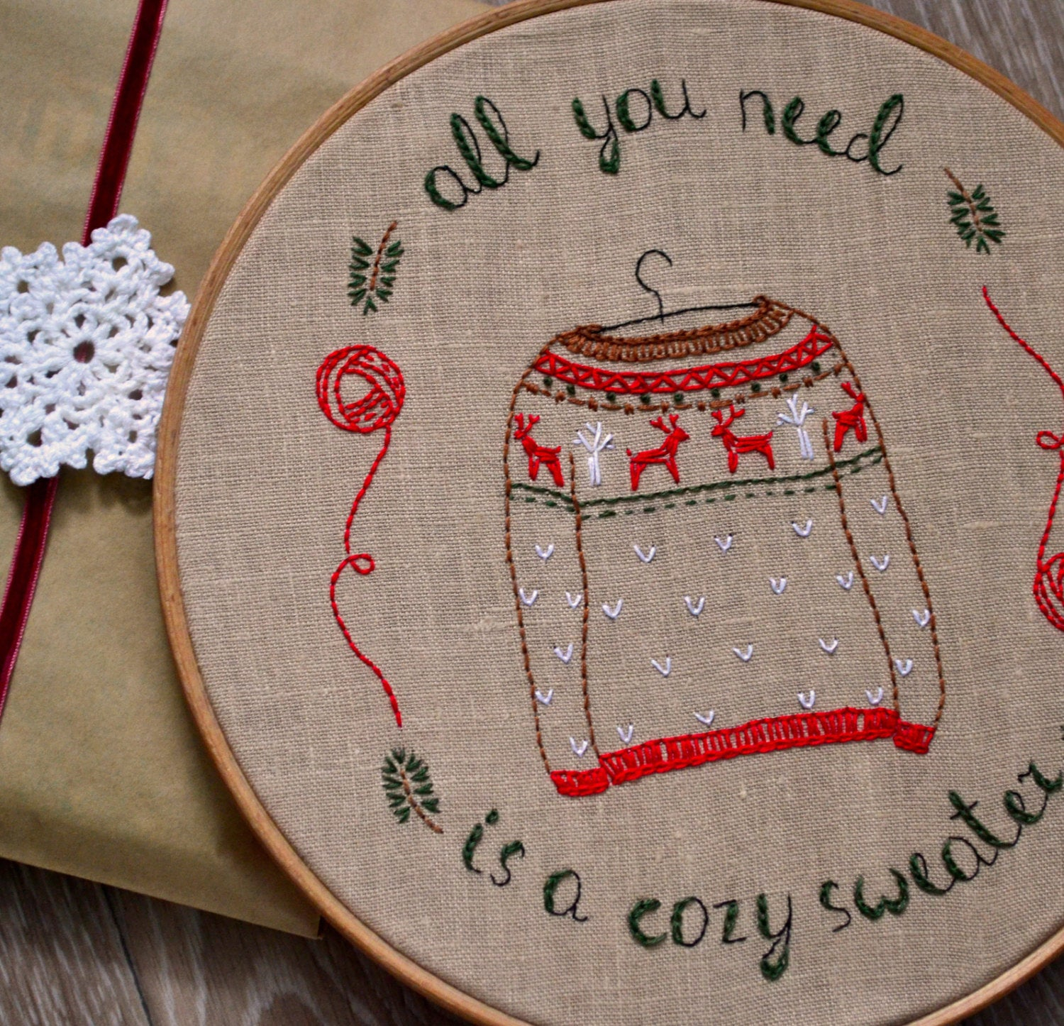 Christmas Hand Embroidery Patterns Hygge Hand Embroidery Patterns Pdf Christmas Sweater Naiveneedle