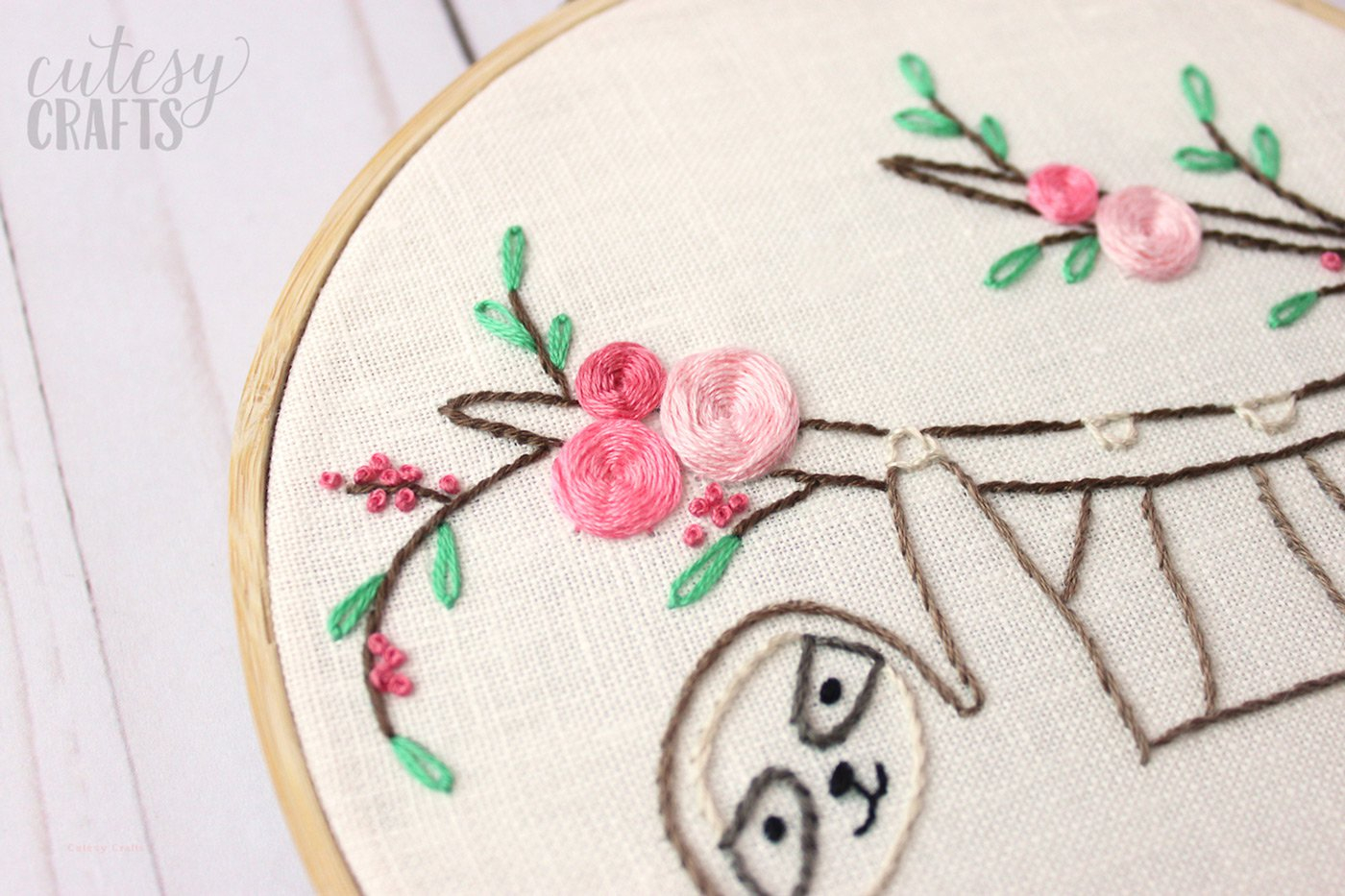 Cute Embroidery Patterns Adorable Sloth Hand Embroidery Pattern The Polka Dot Chair