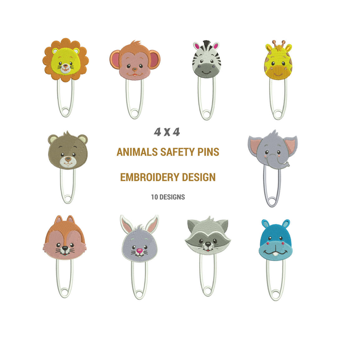 Cute Embroidery Patterns Animal Safety Pins Embroidery Designs Stitch Cute Embroidery Designs Animal Embroidery Works Blanket Embroidery Design Pes Format