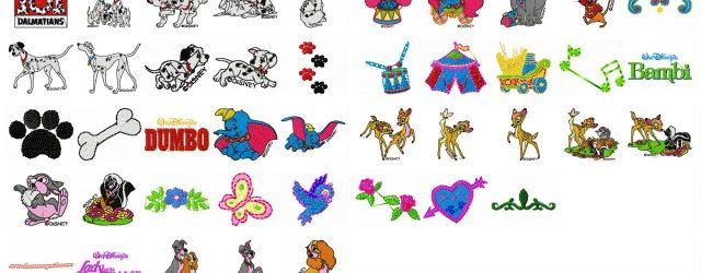 Disney Embroidery Patterns Disney Machine Embroidery Patterns Disney Embroidery Disney Designs 101 Dalmations Bambi Embroidery Dumbo Elephant Lady The Tramp
