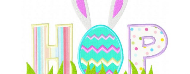 Easter Embroidery Patterns Easter Themed Hop Both Applique And Stitched Pattern Machine Embroidery Design