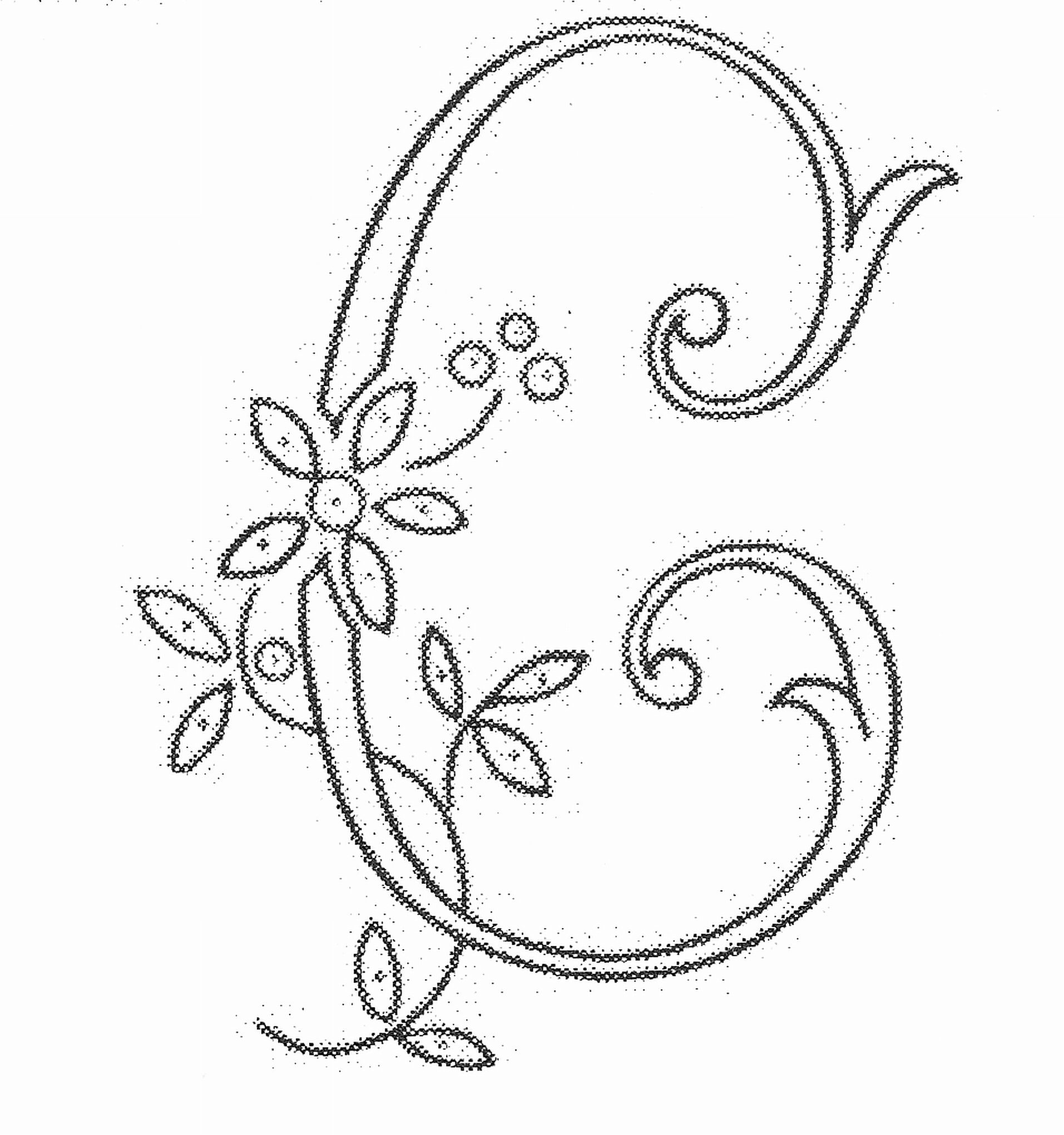Embroidery Alphabet Patterns Fancy Alphabet Letters Drawing At Getdrawings Free For