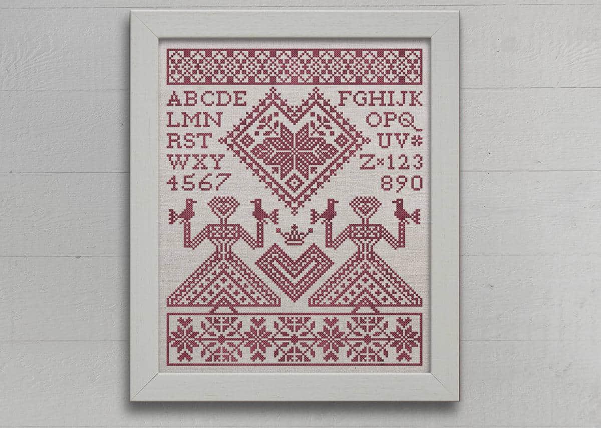 Embroidery Alphabet Patterns My Norwegian Valentine New Pattern Modern Folk Embroidery