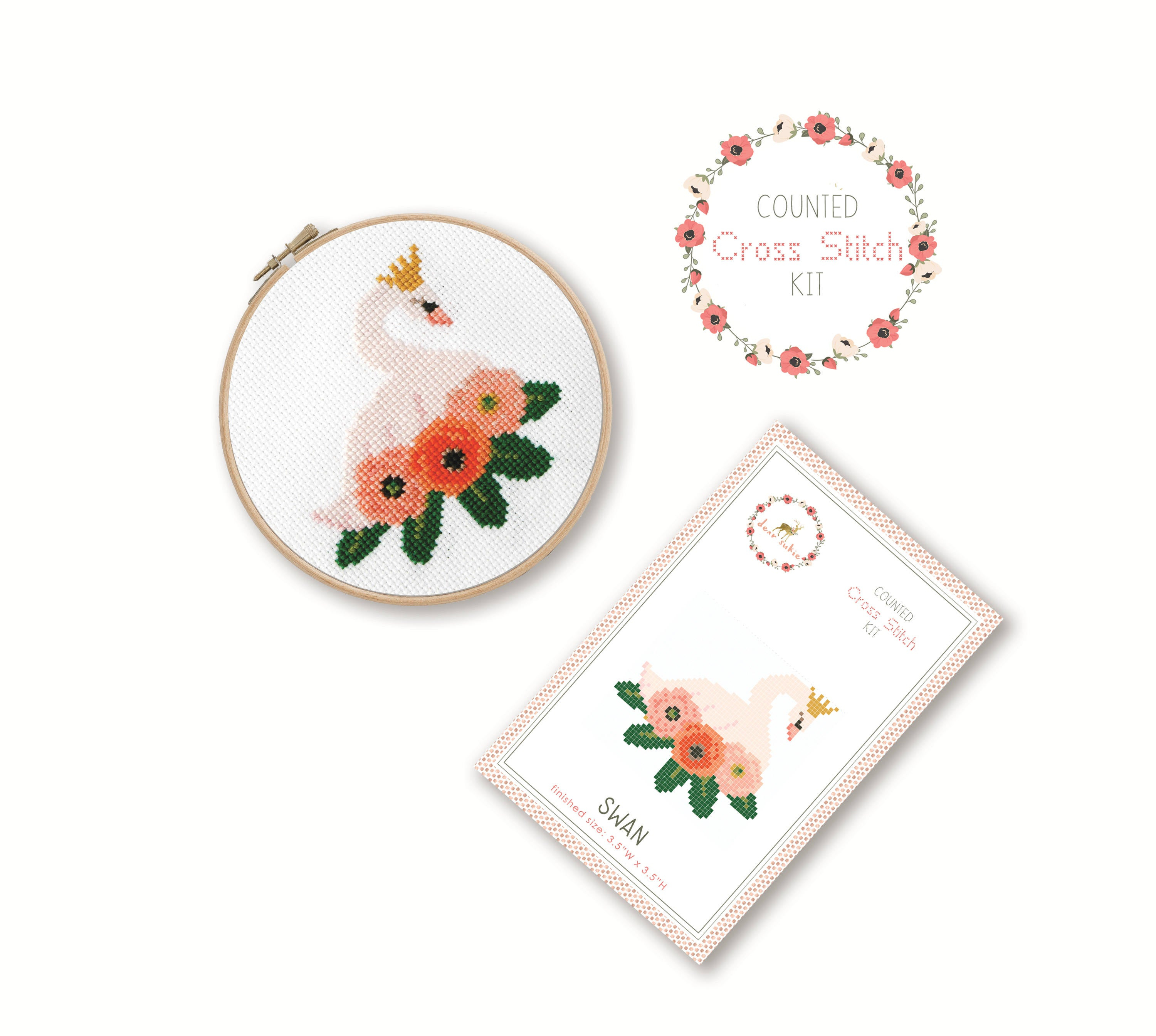 Embroidery Bird Patterns Counted Cross Stitch Kit Swan Bird Cross Stitch Pattern Craft