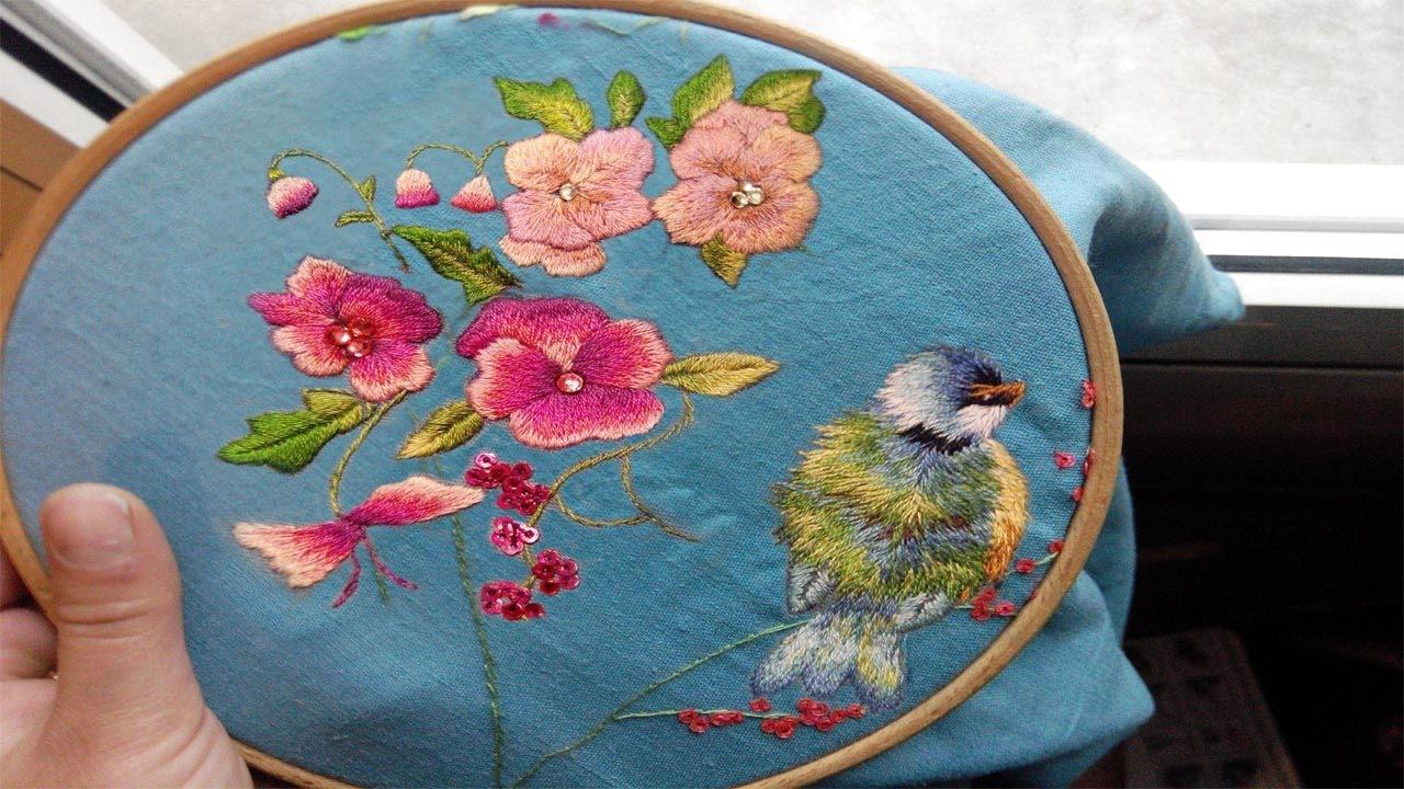 Embroidery Bird Patterns Embroidered Bird Trish Burr Part One