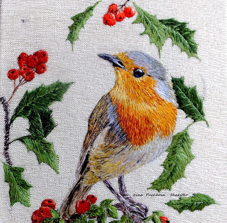 Embroidery Bird Patterns Embroidered Stitch Pattern Bird Robin Shop Online On Livemaster With Shipping Ekis7com Novorossiysk