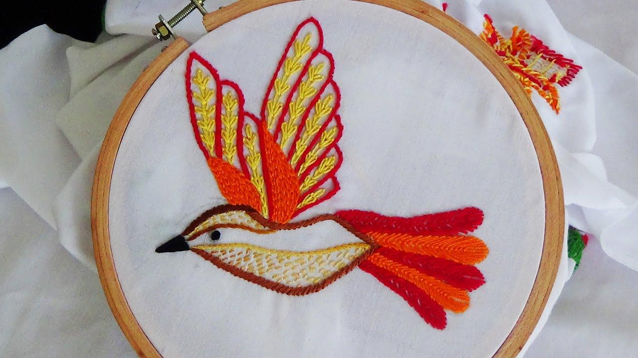 Embroidery Bird Patterns Hand Embroidery Bird Embroidery Fly Stitch Stem Stitch