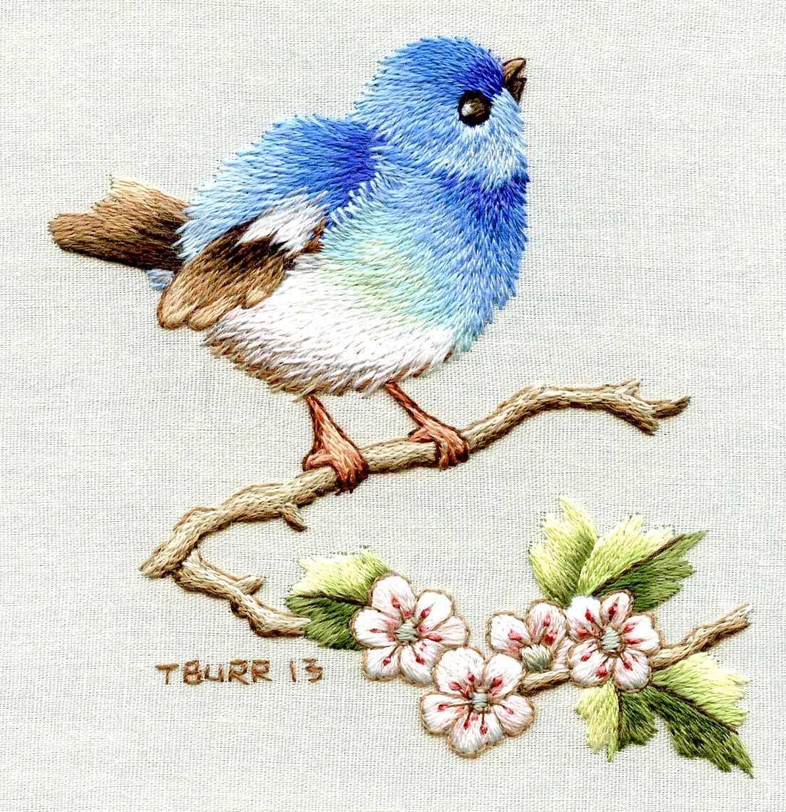 Embroidery Bird Patterns Needle Painting Embroiderybirds Joy Design Studio