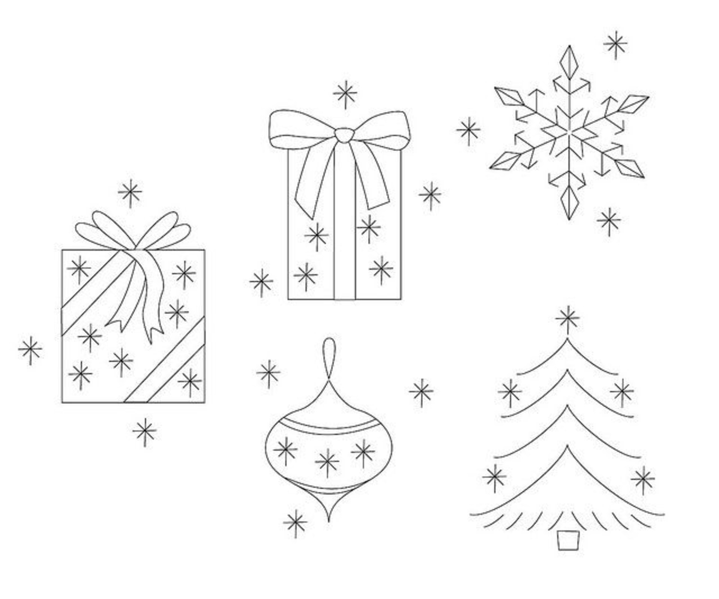 Embroidery Christmas Patterns 98577375 Christmas Embroidery Patterns What Katie Does Via Flickr