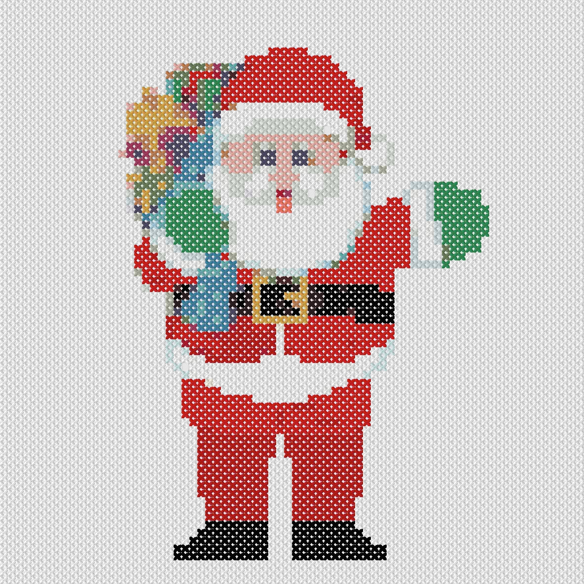 Embroidery Christmas Patterns Christmas Cross Stitch Pattern Santa Claus Embroidery And Arts