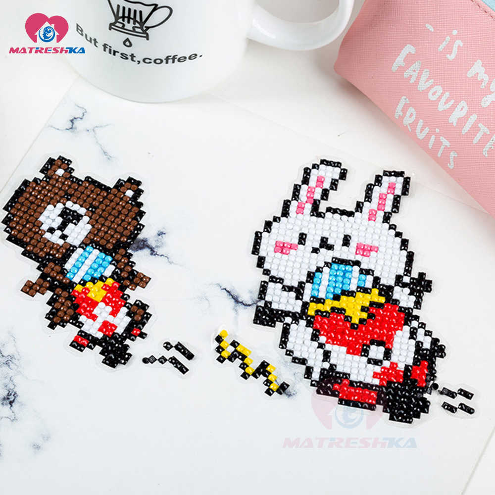 Embroidery Christmas Patterns Diy Patterns Diamond Embroidery 5d Diamond Painting For Children Round Diamond Crafts Double Sided Sticker Christmas Decoration