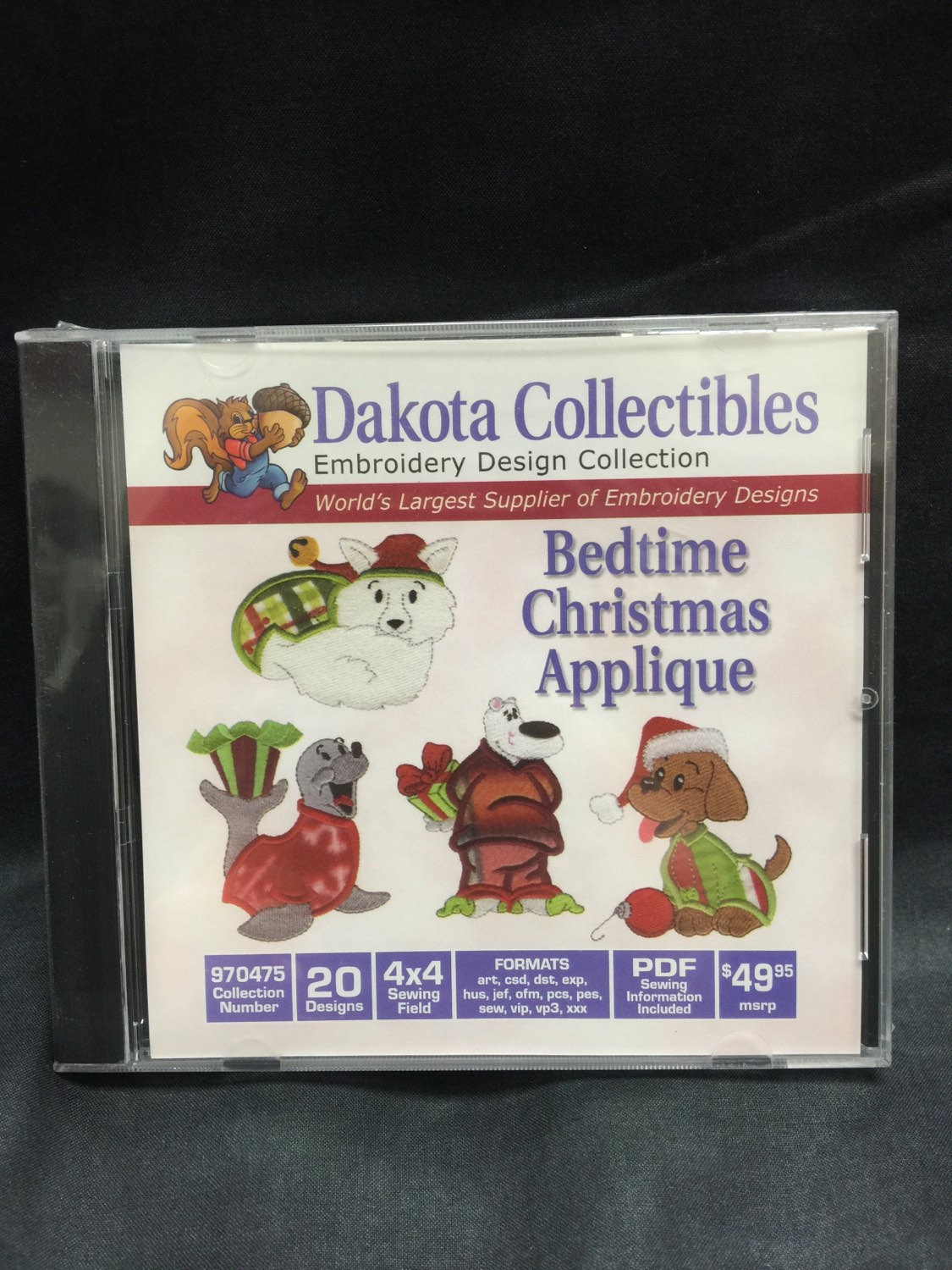 Embroidery Christmas Patterns Machine Embroidery Cd Dakota Christmas Quilt Multi Format Cd Sewing Fabric Gift For Her Him Pattern Patterns