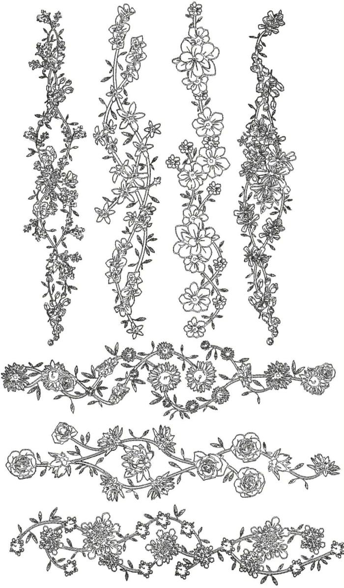 Embroidery Designs Patterns 12 Hand Embroidery Border Design Patterns Images Hand Pattern