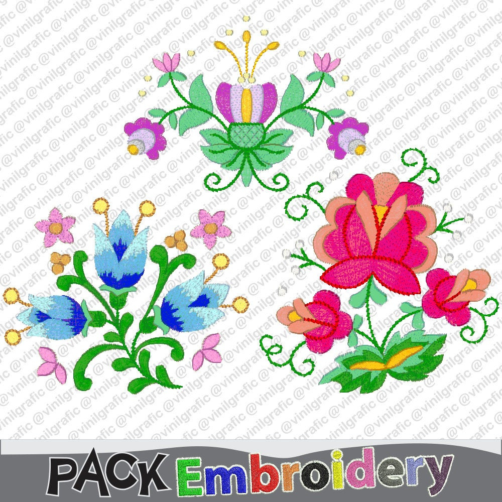 Embroidery Designs Patterns Beauty Flowers Vol1 Embroidery Designs Brother Patterns Kit Hoop Emb Hus Jef Pes Dst With Resizer Converter Software Included