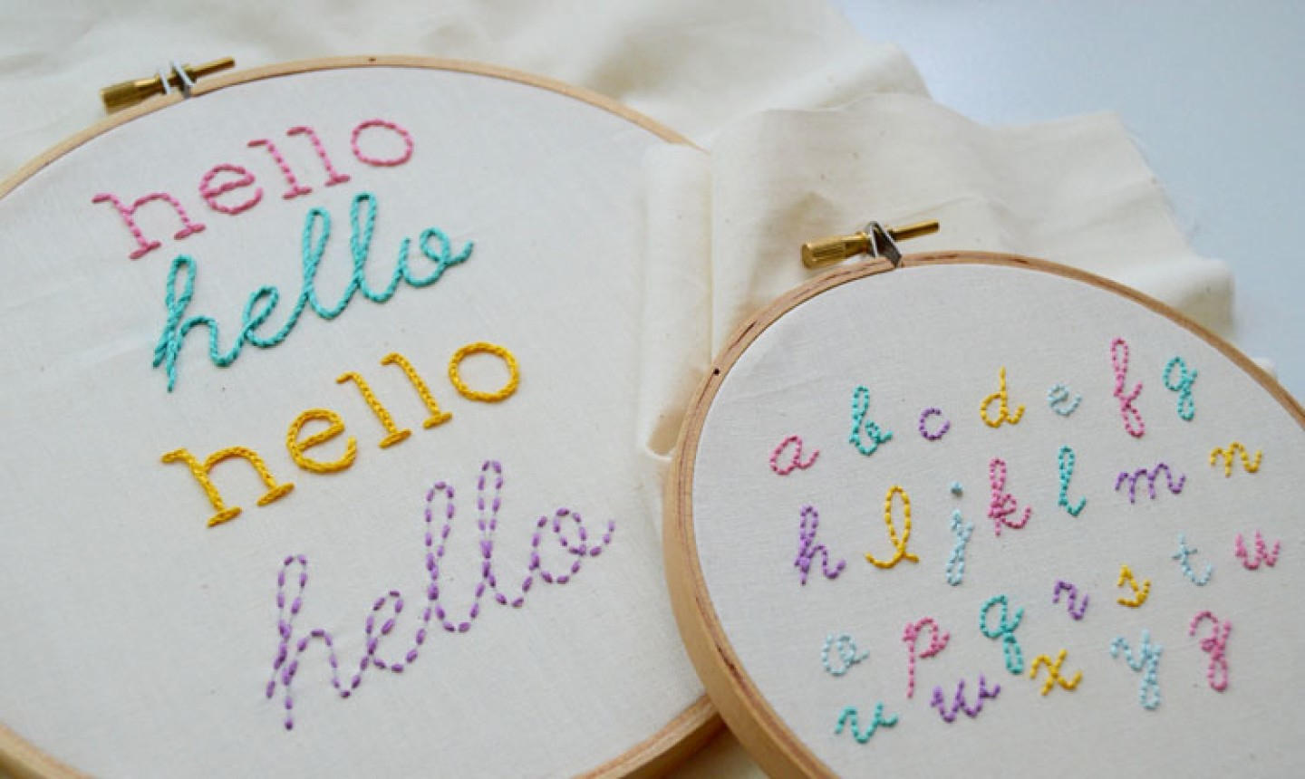Embroidery For Beginners Free Patterns 4 Surprisingly Easy Stitches For Perfect Hand Embroidered Letters