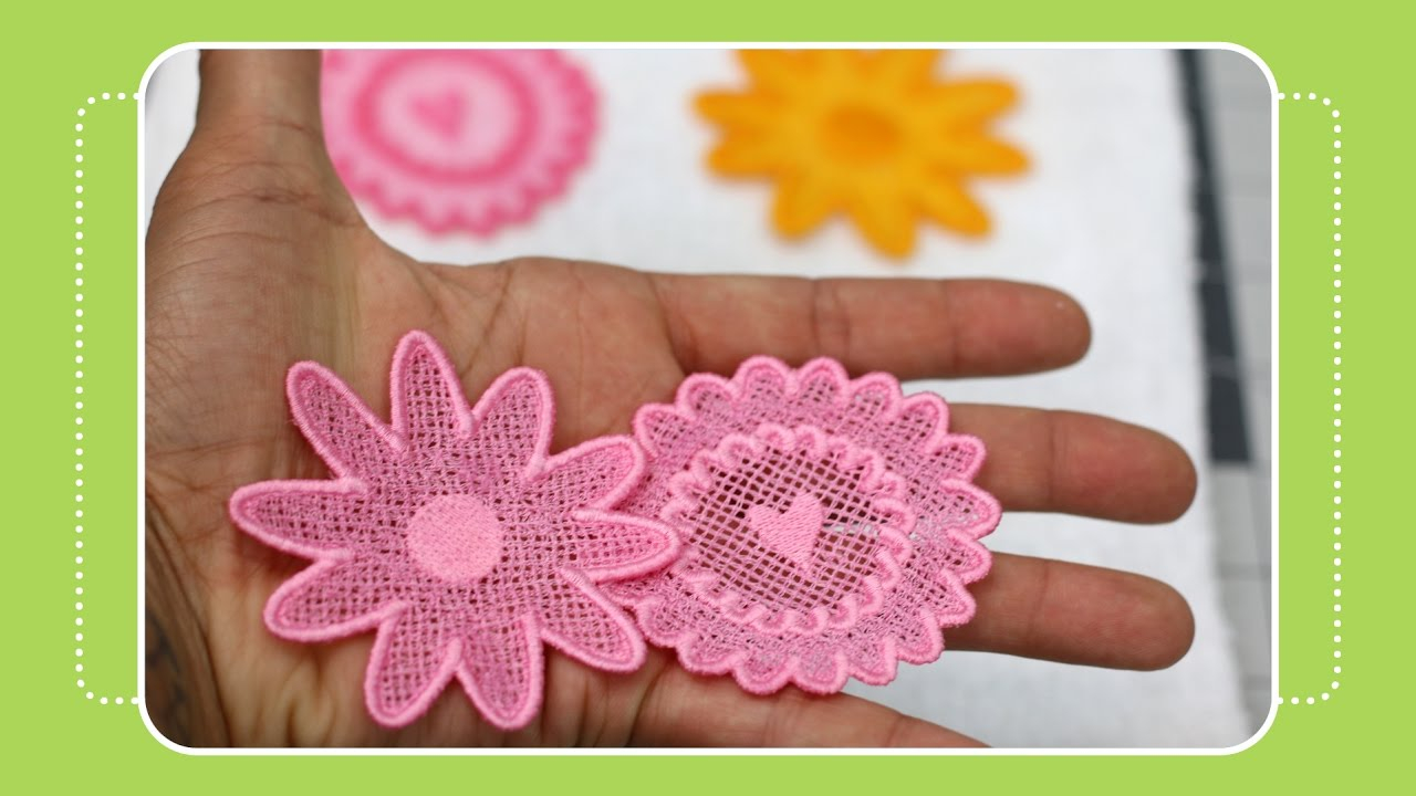 Embroidery For Beginners Free Patterns Beginner Machine Embroidery Project 2 Free Standing Lace Tutorial
