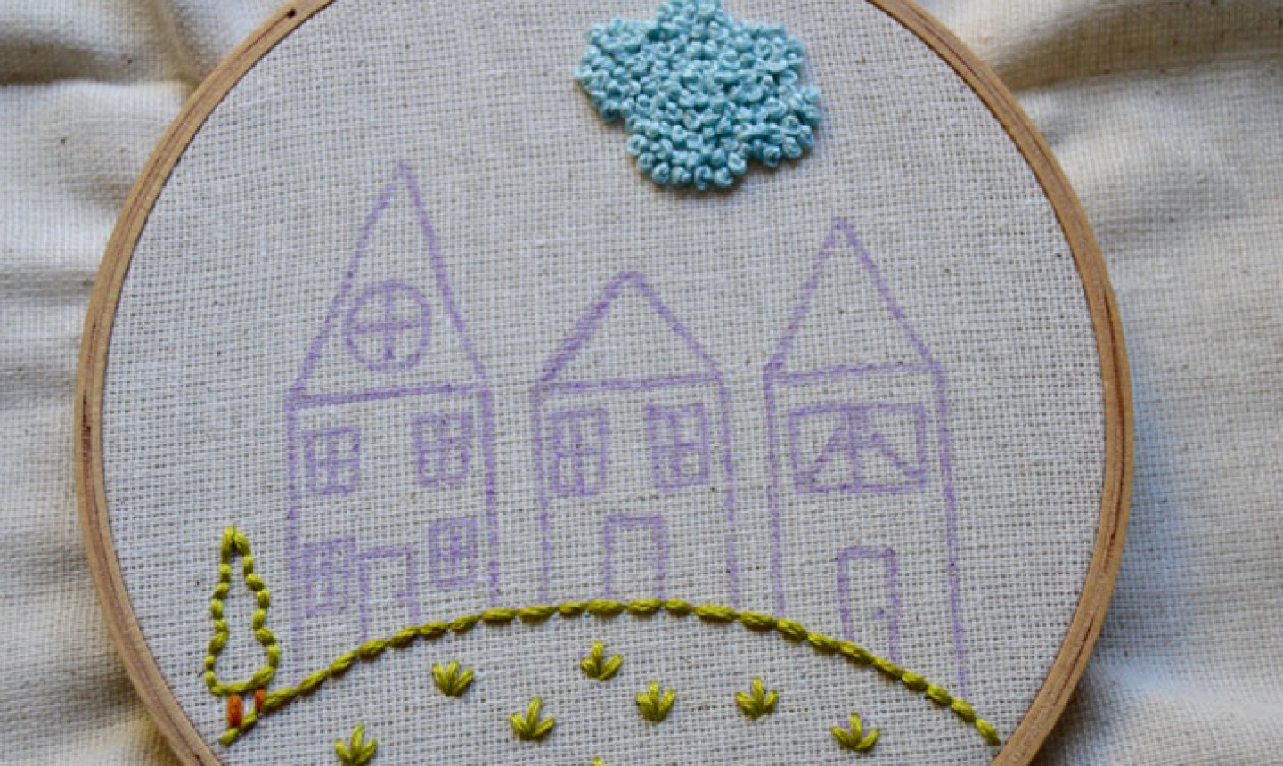 Embroidery For Beginners Free Patterns Embroidered House Neighborhood Tutorial