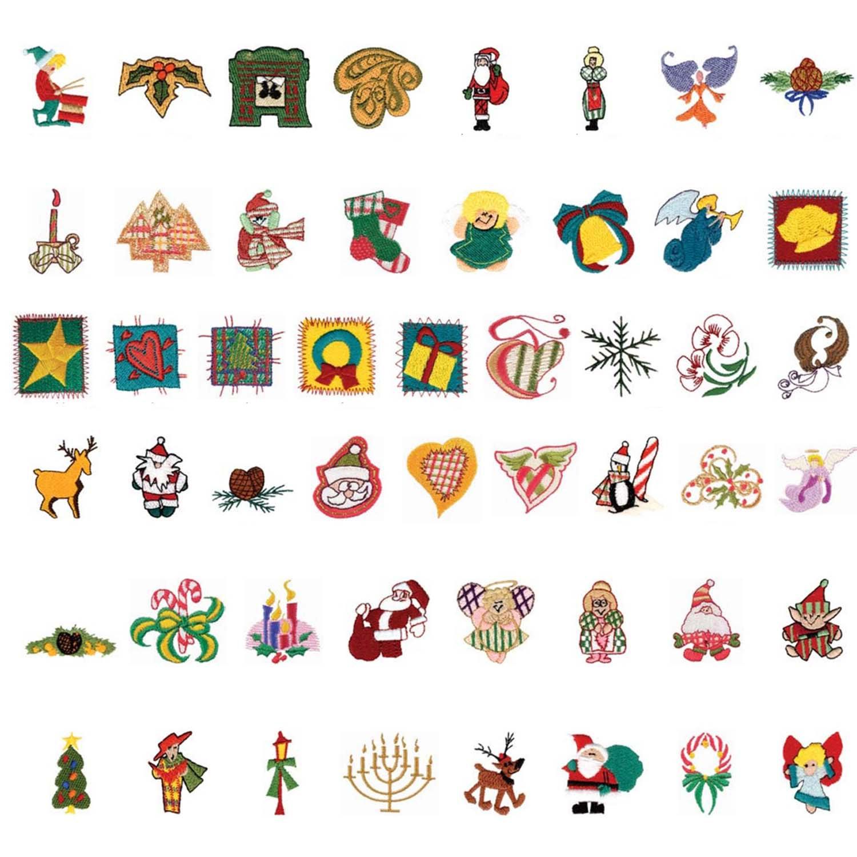 Embroidery Machine Patterns Download 48pc Mini Christmas Embroidery Machine Patterns Designs
