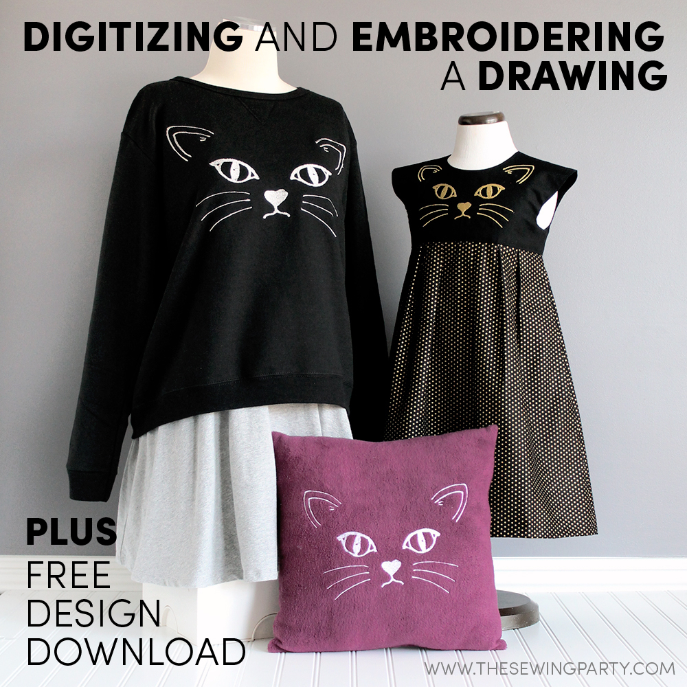 Embroidery Machine Patterns Download Digitizing And Embroidering A Drawing The Sewing Party