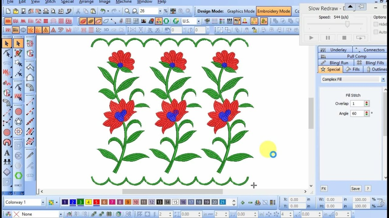 Embroidery Pattern Software How To Create Embroidery Design In Wilcom E2 Software Easily For Free Tutorial