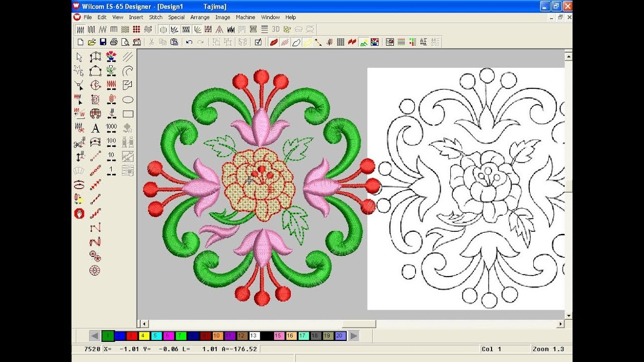 Embroidery Pattern Software How To Make Computer Embroidery Design Embroidery Machine Design Pat 125