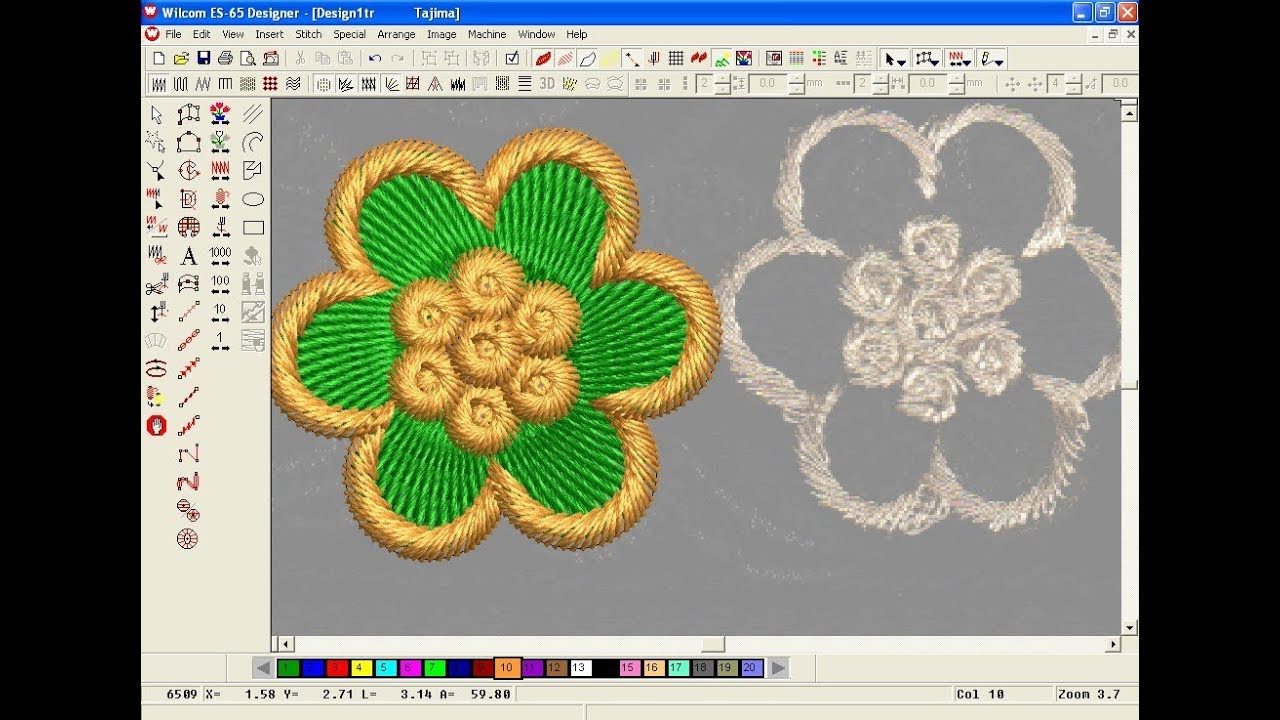Embroidery Pattern Software How To Make Computer Embroidery Design Embroidery Machine Design Pat 168