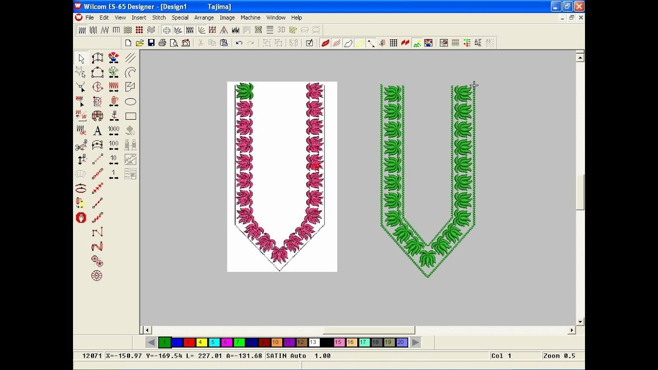 Embroidery Pattern Software How To Make Computer Embroidery Design Embroidery Machine Design Pat 193