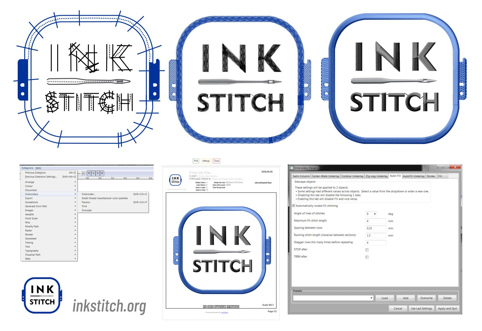 Embroidery Pattern Software Inkstitch Inkstitch