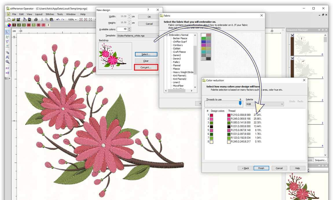 Embroidery Pattern Software Operator Level Wings Xp 6 Embroidery Software