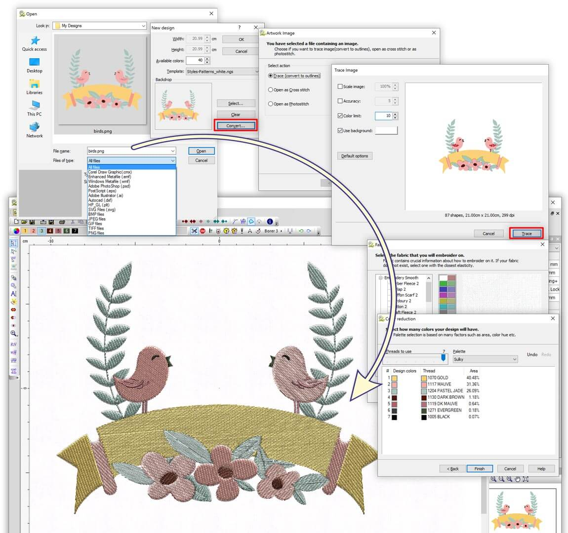 Embroidery Pattern Software Puncher Level Wings Xp Experience 6 Embroidery Software