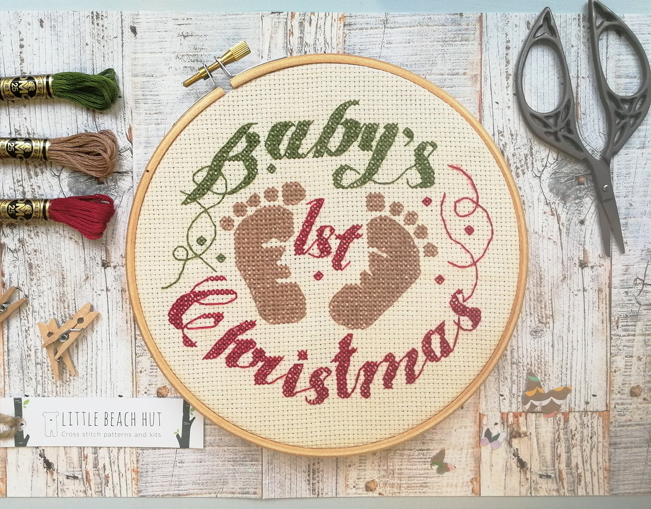 Embroidery Patterns Christmas Ba Cross Stitch Kit Gifts For A Ba First Christmas New Ba Embroidery Pattern Diy Kit