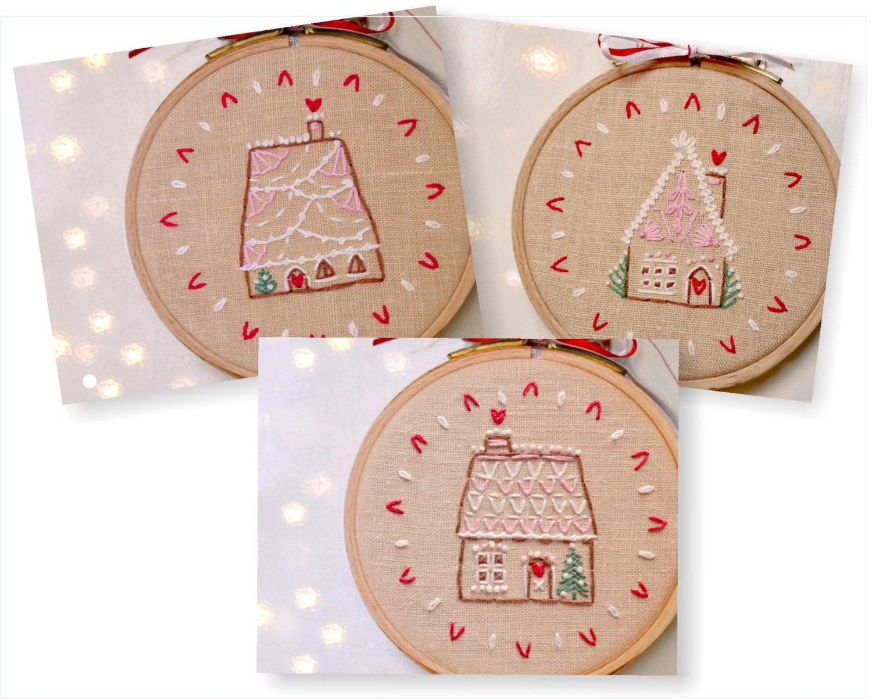 Embroidery Patterns Christmas Christmas Hand Embroidery Patterns Pdf Set Of 3 Diy Christmas Ornaments Naiveneedle