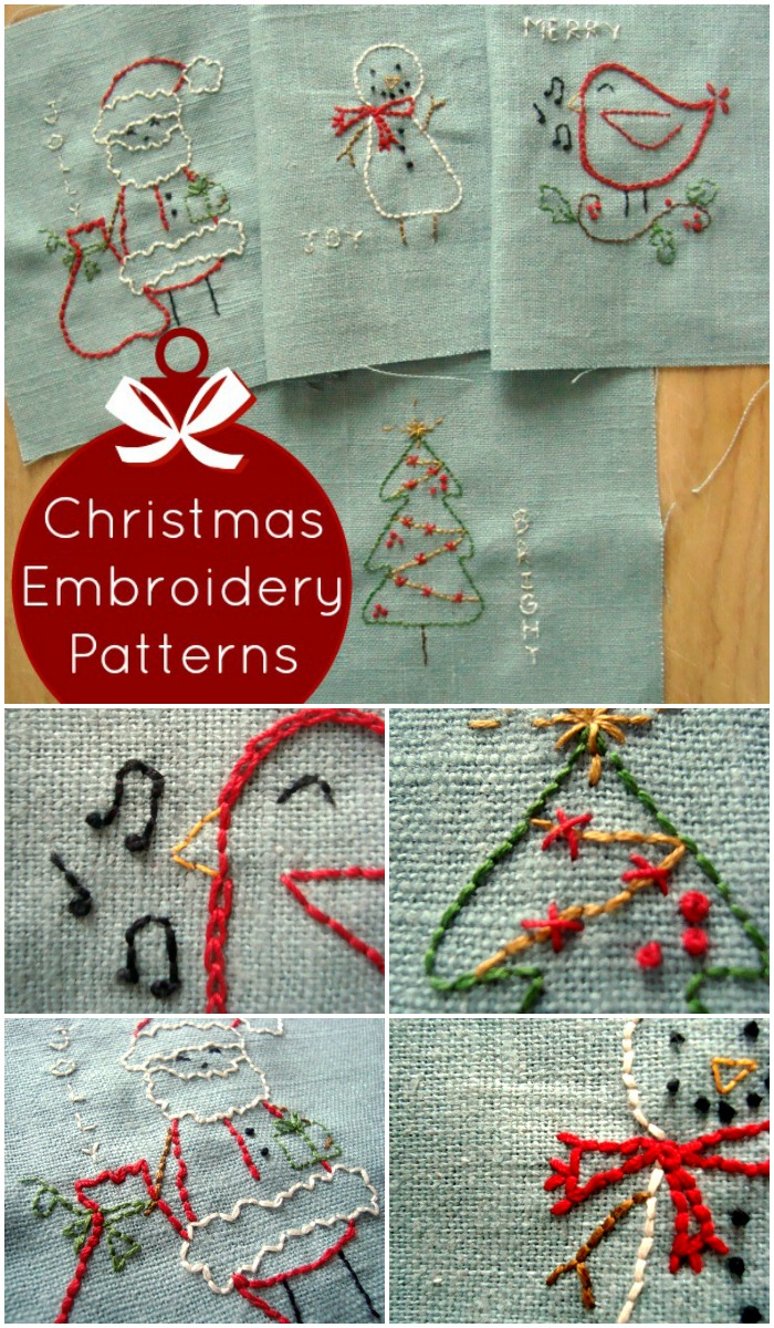 Embroidery Patterns Christmas Free Christmas Embroidery Designs