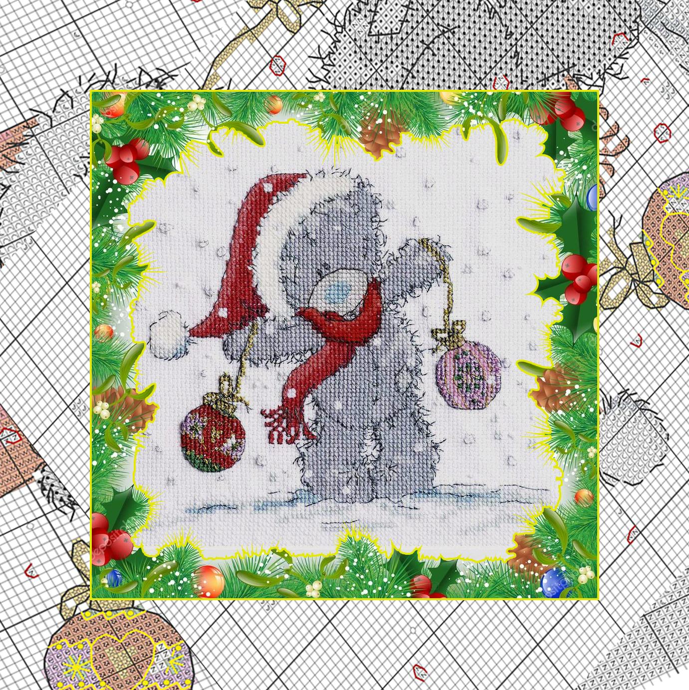 Free Christmas Embroidery Patterns Sad Christmas Teddy Bear Free Embroidery Pattern