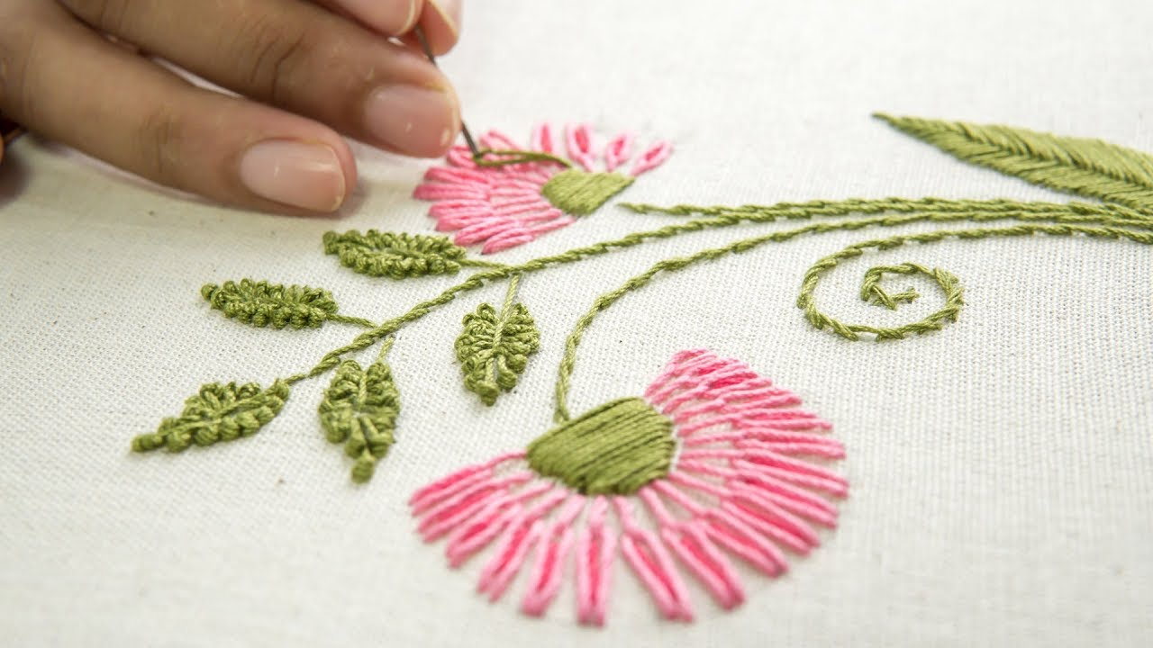 Free Flower Embroidery Patterns Embroidery Flower Designs Hand Stitching Ideas Handiworks