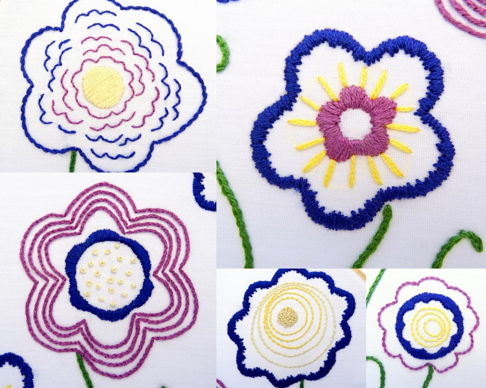 Free Flower Embroidery Patterns Free Doodle Flower Embroidery Pattern Wandering Threads Embroidery