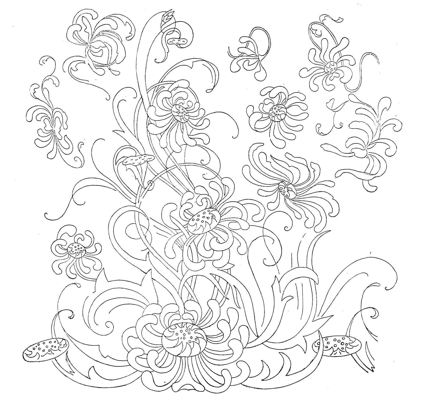 Free Flower Embroidery Patterns Free Embroidery Pattern Archives Vintage Crafts And More