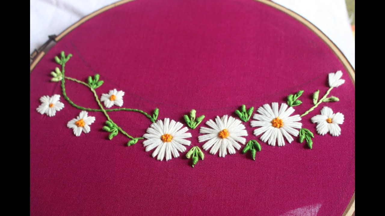 Free Flower Embroidery Patterns Hand Embroidery Flower Design