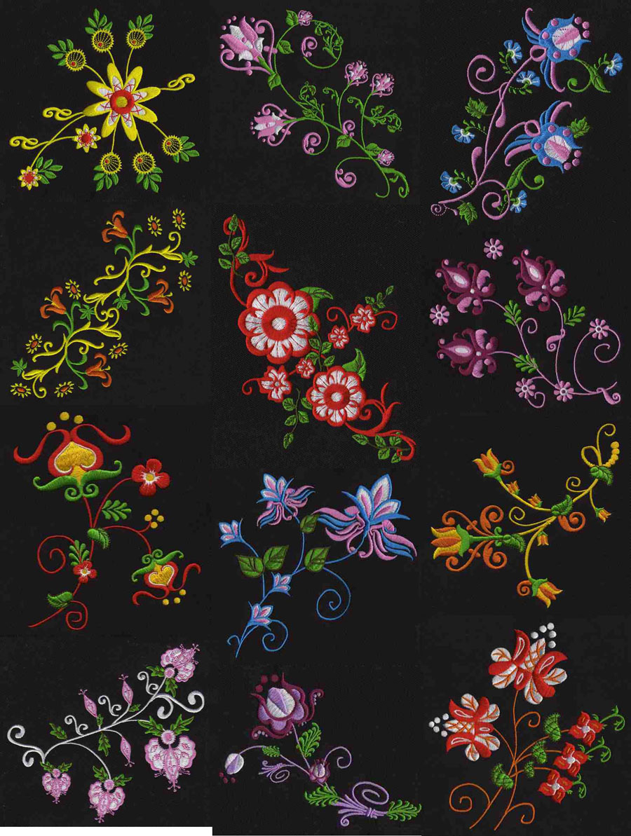 Free Flower Embroidery Patterns Jacobean Flowers Machine Embroidery Designs Free Embroidery Patterns