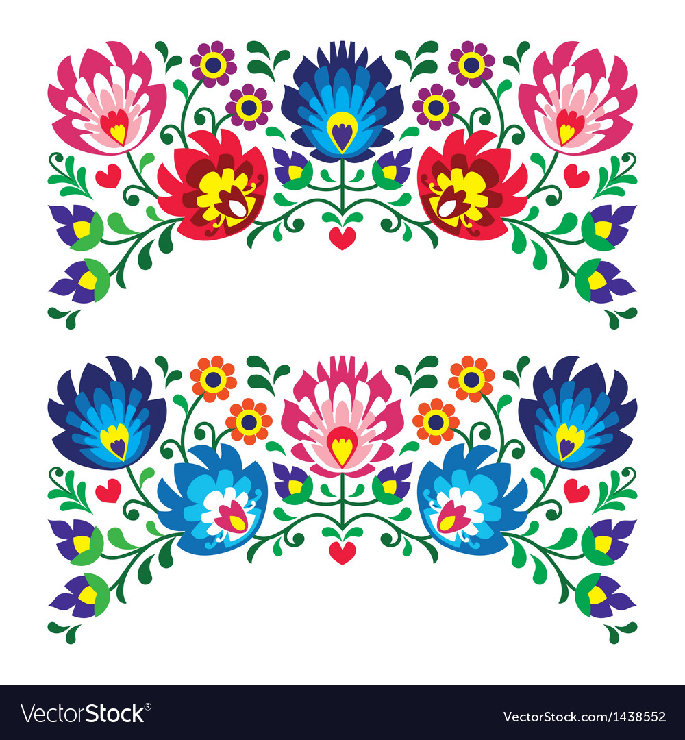 Free Flower Embroidery Patterns Polish Floral Folk Embroidery Patterns For Card