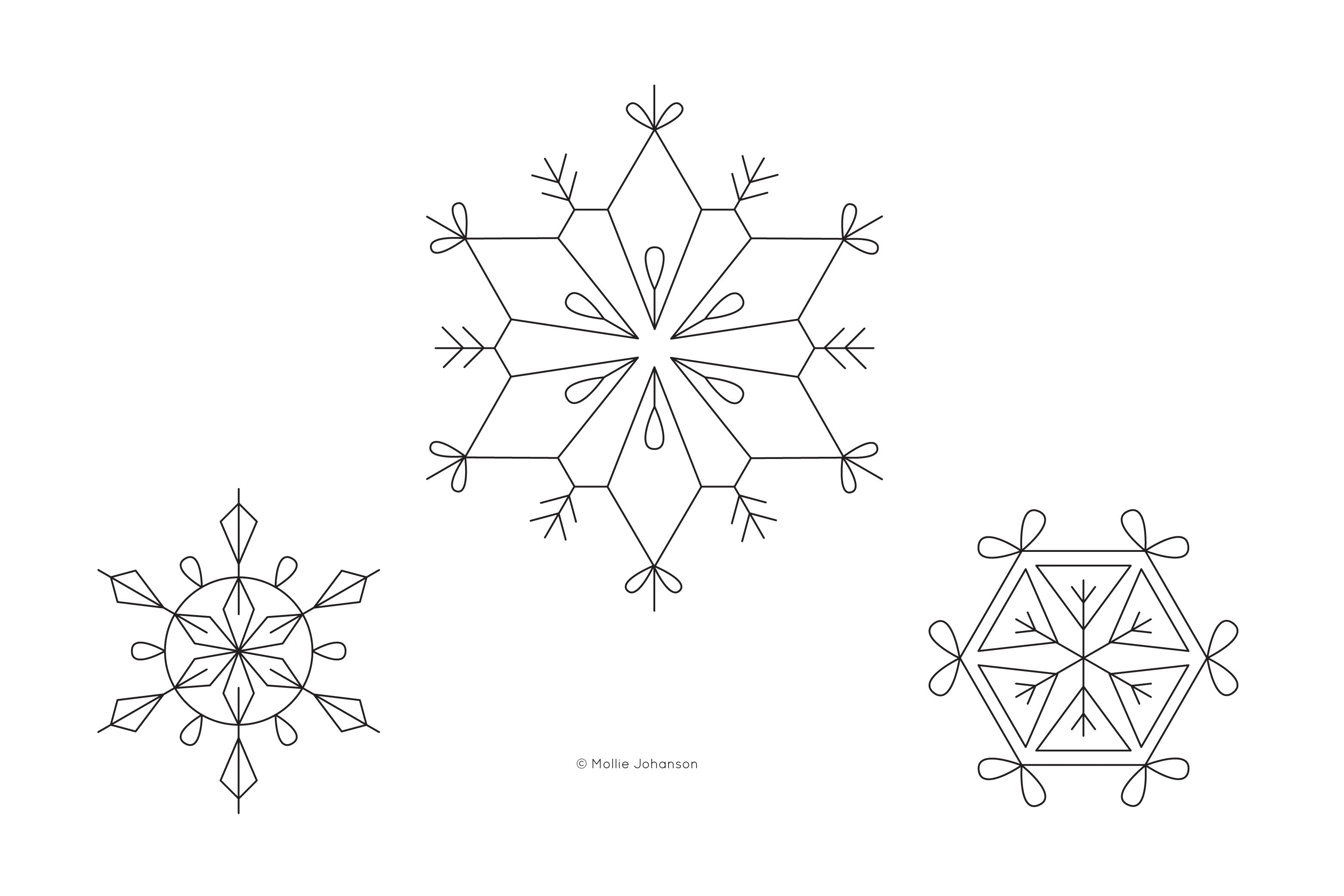 Free Hand Embroidery Pattern 3 Free Snowflake Hand Embroidery Patterns
