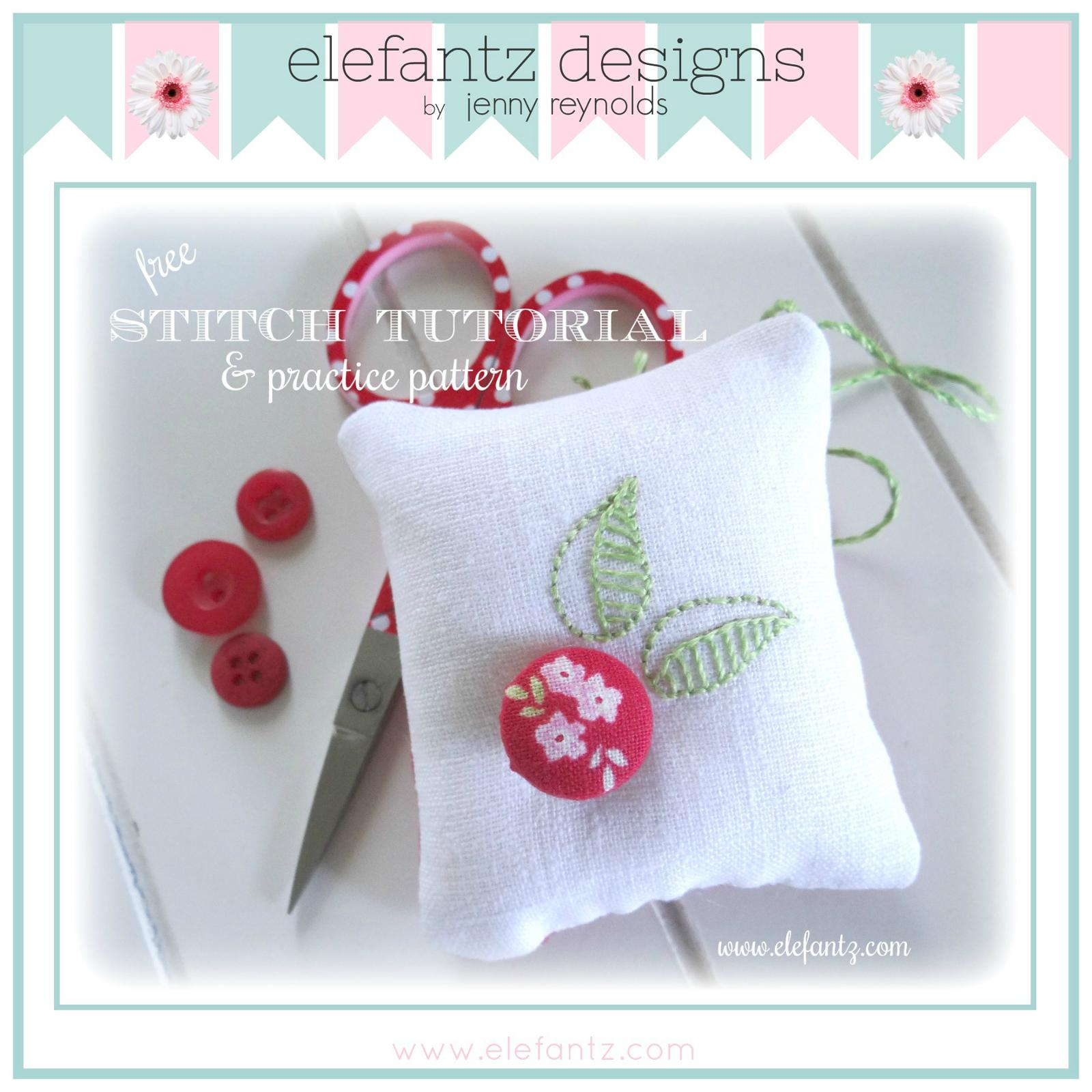 Free Hand Embroidery Pattern Free Hand Embroidery Scissor Keep And Leaf Tutorial