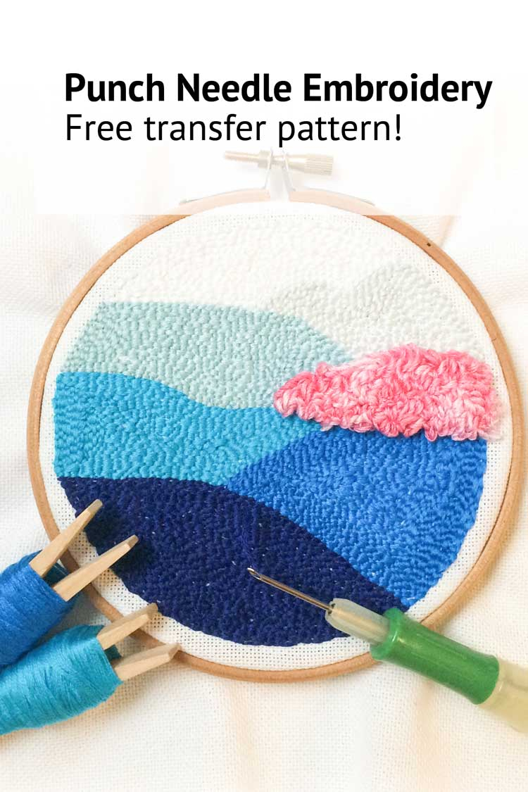 Free Punch Needle Embroidery Patterns Free Punch Needle Pattern For Beginners Using Clover Punch Needle