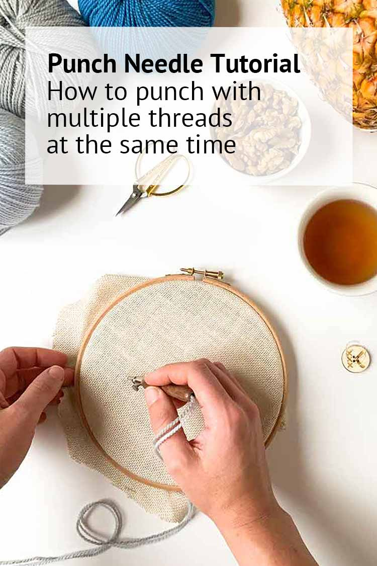 Free Punch Needle Embroidery Patterns How To Punch Needle With Two Colors Yarn Studio Koekoek