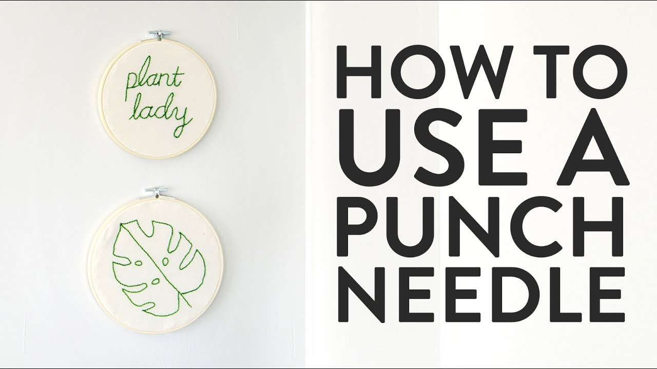 Free Punch Needle Embroidery Patterns How To Use A Punch Needle And Make Quick Easy Embroidered Wall Art